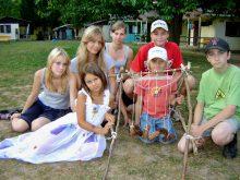 2008 Oddíl se svým tkalcovským stavem